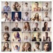 Portraits of happy successful people...