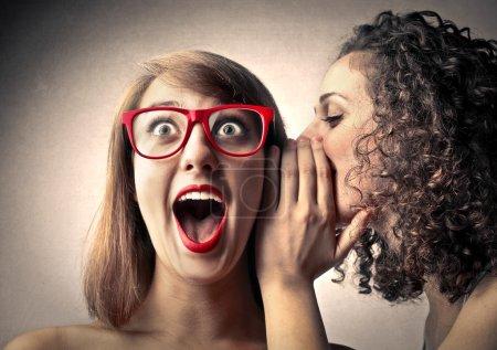 Photo pour Secrets chuchotants - image libre de droit