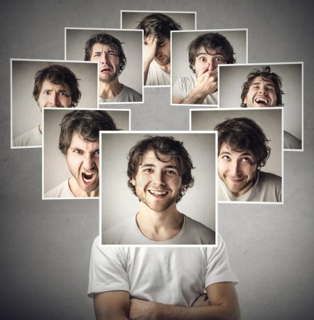Photo for Man in different moods - Royalty Free Image
