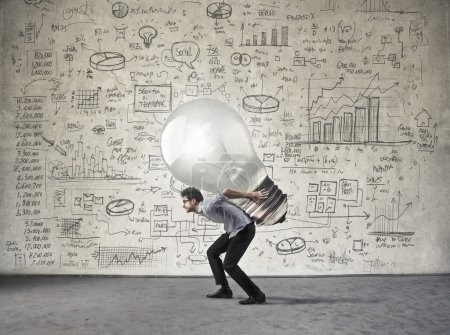 Businessman and new big idea