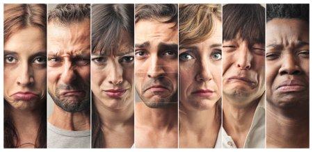Gesichter der Missbilligung