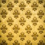Background Texture Of A Regal, Gold Fleur-de-lis C...