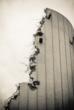 Photo for Grungy Detail Of A Partly Demolished Building - Royalty Free Image