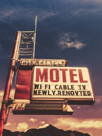 Retro Vintage Motel Sign