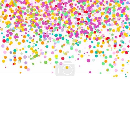 Illustration pour Résumé fond de confettis - image libre de droit