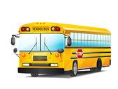 school bus on white vector illustration