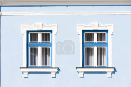 Photo for View of two windows of house - Royalty Free Image
