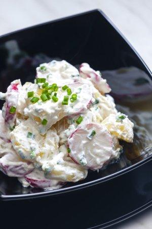 spring potato salad with radishes