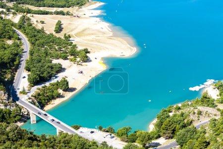 Photo pour Lac de Sainte Croix, Gorge du Verdon, Provence, France - image libre de droit