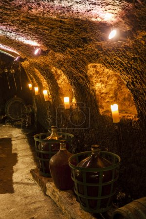 Wine cellar in Velka Trna, Tokaj wine region
