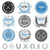Vector vintage badge set