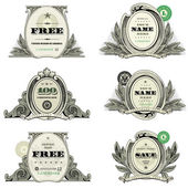 Vector Financial Frame and Badge Set