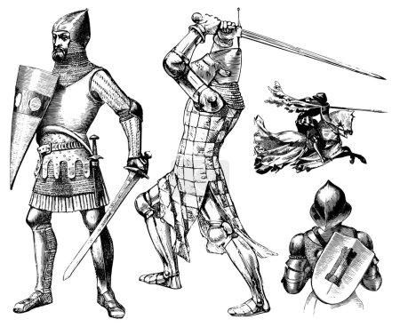 Vector Medieval Knight Set