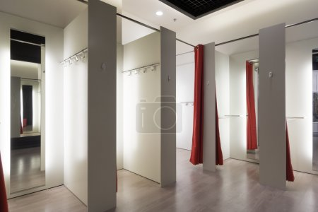 Photo for Fitting room interior in a mall. Nobody - Royalty Free Image