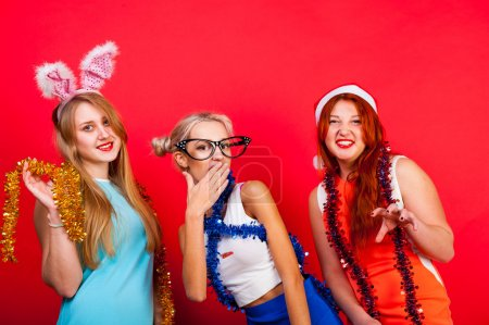 Photo for Young nice girls have fun on a party - Royalty Free Image