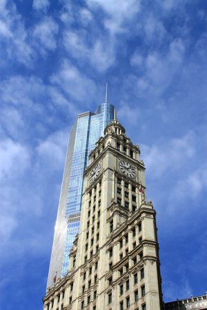 Wrigley Building and Trump Tower