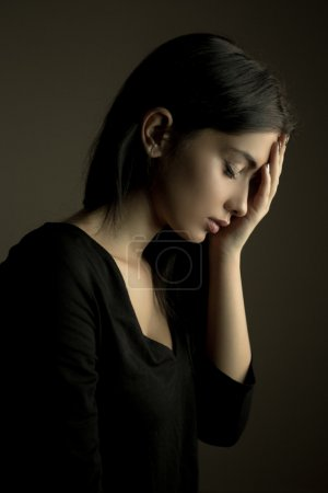 Photo for Depression concept - sad teen woman - Royalty Free Image