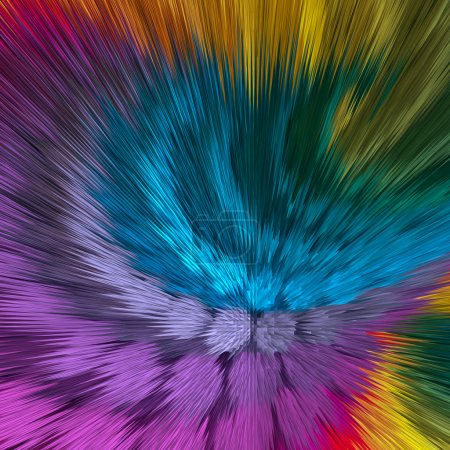 Artistic background of vibrant colors