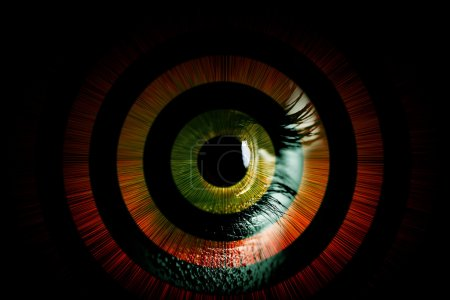 Photo for Human eye abstract vision concept - Royalty Free Image