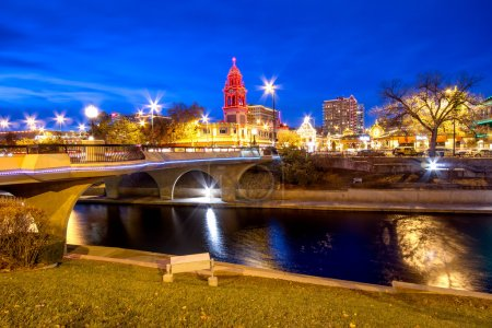 Photo for Kansas City Country Club Plaza area during Christmas - Royalty Free Image