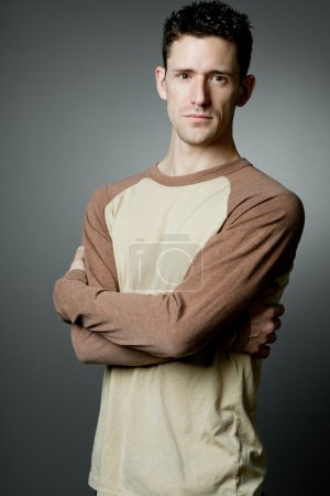 Photo for Young handsome happy man wearing casual cloths. - Royalty Free Image