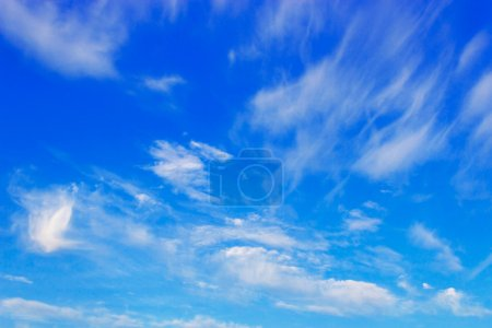Photo for Beauty peaceful sky with soft white clouds - Royalty Free Image