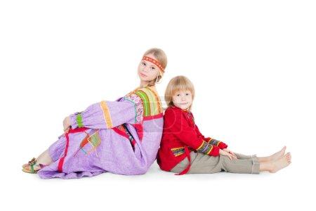 Kids in folk clothes
