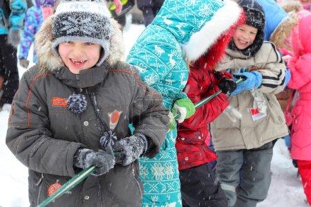 Pretty little winter children
