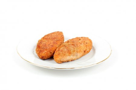 Photo for Fish cakes on the white background - Royalty Free Image