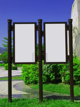 Photo for Blank billboard in the park - Royalty Free Image