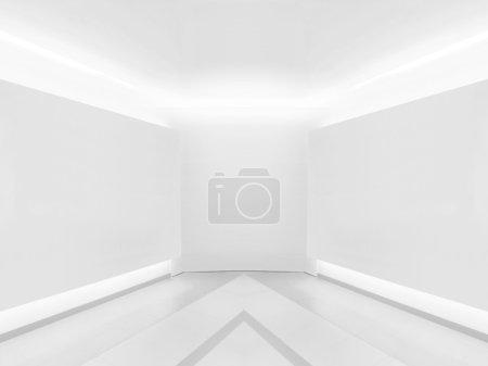 Photo pour Mur vide dans la galerie - image libre de droit