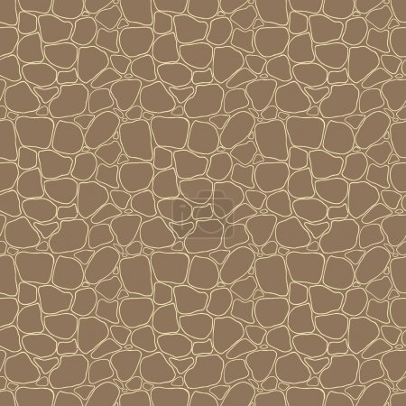 Illustration for Stones seamless pattern, vector hand drawn illustration - Royalty Free Image