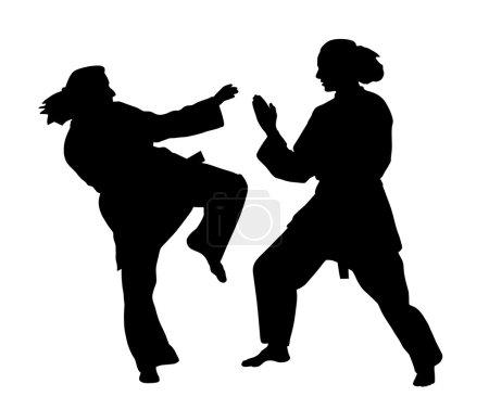 Women karate fight