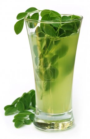 Ayurvedic Juice made from moringa leaves