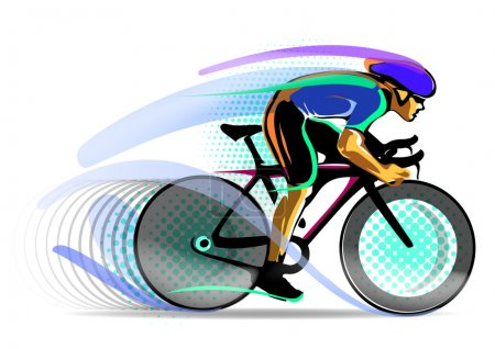 Stylized motion cyclist