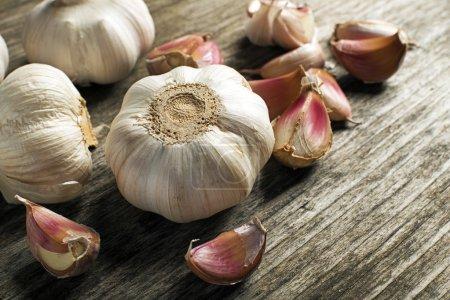 Garlic cloves close up