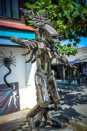 Extraordinary souvenirs from Koh Samui. Metal man