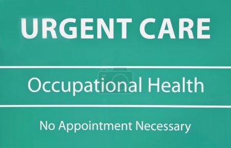 Photo pour Nouveaux soins d'urgence et de santé signe avec sans rendez-vous - image libre de droit