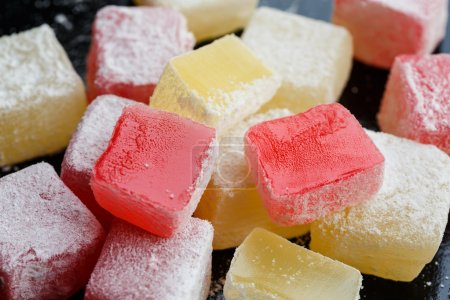 Rose and lemon flavoured Turkish delight