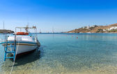 Beach on Mykonos Island