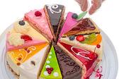 Ručně dekorované dort
