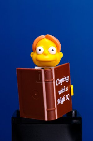 Lego Martin Prince with book