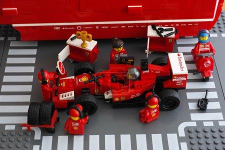 Pit stop of Ferrari F14