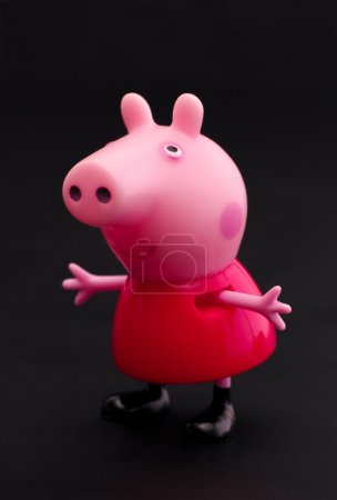 Peppa Pig on black background