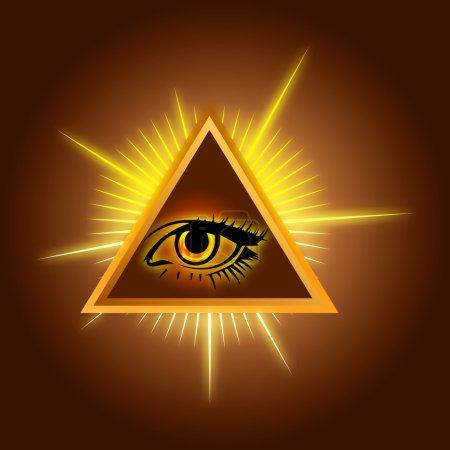 Photo pour All-seeing eye - Illustration de stock de couleur - image libre de droit