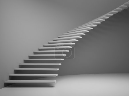 Photo for Empty room with staircase 3D rendering. - Royalty Free Image