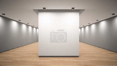 Photo for Empty gallery interior 3D rendering - Royalty Free Image