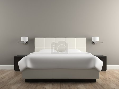 Photo for Interior of the modern design  bedroom 3D rendering - Royalty Free Image