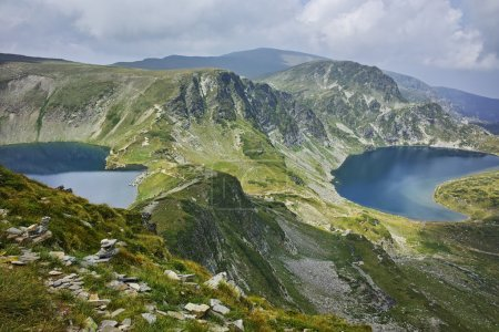 amazing Landscape of The Eye and The Kidney lakes, The Seven Rila Lakes