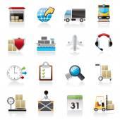 Icone di logistica, carico e trasporto